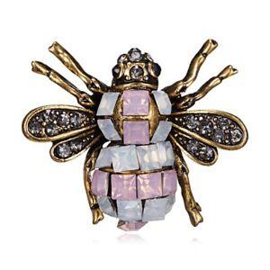 Lovely-Rhinestone-Crystal-Bee-Animal-Breastpin-Brooch-Pin-Costume-Jewelry-Gift