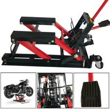 1500lbs Motorcycle Hydraulic Pump Jack Atv Dirt Bike Handle Stands Lifting Tool
