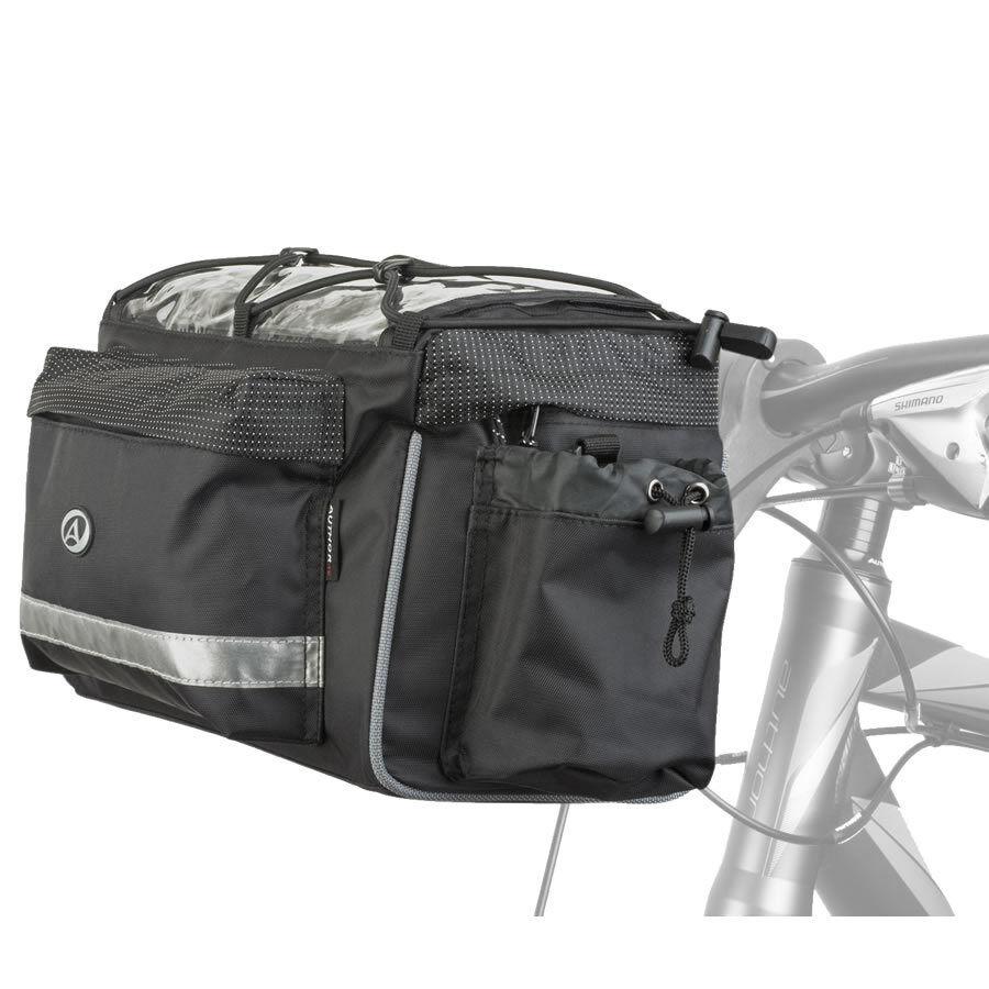 Author Fahrrad Lenkertasche A-H721 QRX7 mit Halter und Schultergurt Kartenfach
