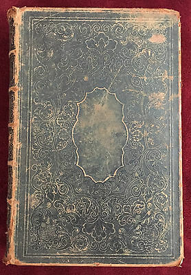 Holy Bible Classic Antiquarian 1855 Timeworn Chiseled Covers and Spine Rare Epic