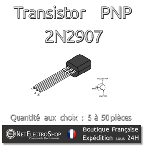 Transistors Pnp 2n2907 - 40v - 600ma - To-92 - Arduino, Rasperry Pi Mmagixfo-07221925-830403071