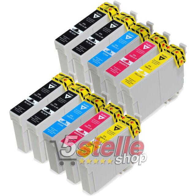 KIT 10 CARTUCCE XL PER EPSON XP235 XP245 XP247 XP332 XP335 NERO + COLORE