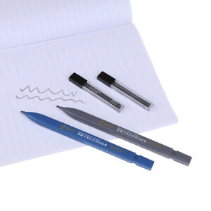 2B Black Lead Holder Exam Mechanical Pencil With Lead Refill Set Office Supplˇ