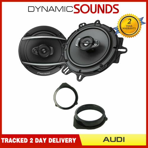 """Pioneer 6.5/"""" 165mm Front Door Speaker Upgrade Kit for Audi A3 8P 2003-2012"""