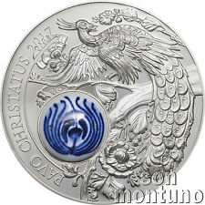 PEACOCK - Royal Delft™ Series 50g Silver Coin - 2017 COOK ISLANDS $10 Dollars