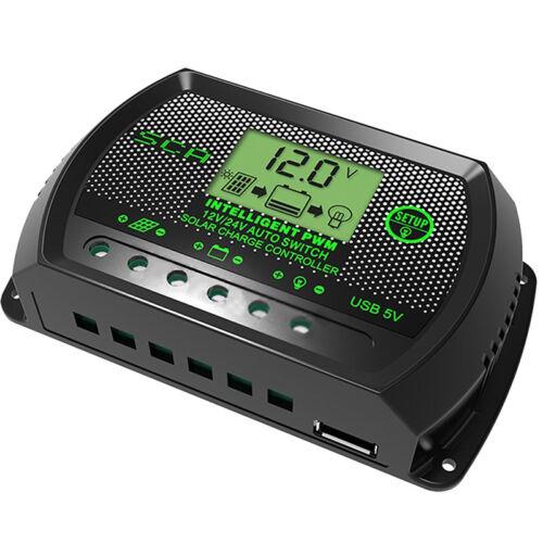 LCD 30A panneau solaire régulateur de charge batterie contrôleur 12//24V autoBB