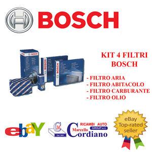 KIT 4 FILTRI TAGLIANDO ORIGINALI MERCEDES CLS 320 CDI DAL 2005 BOSCH