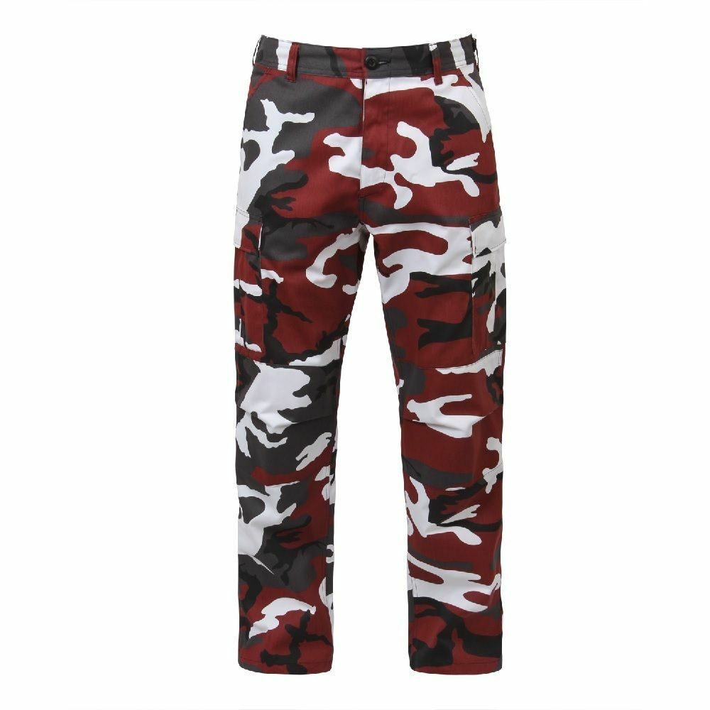 Fatigue BDU Pants Red Camouflage Military Cargo Polyester Cotton  redhco 7915