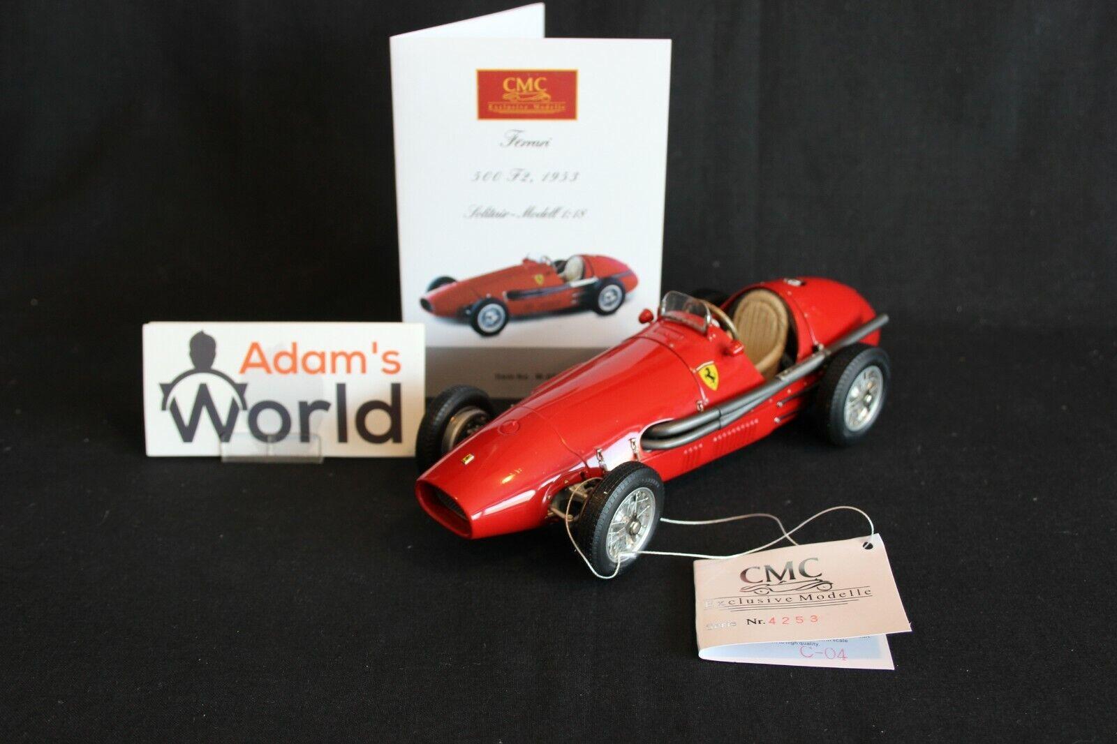CMC Ferrari 500 F2 1953 1 18 rosso  Der Doppelweltmeister  (PJBB)