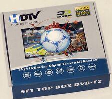 DECODER MINI DVB-T2 DIGITALE TERRESTRE 3d FULL HD 1080P USB TV USCITA RCA HDMI