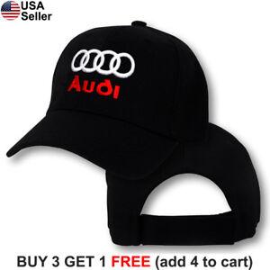 2e6561fa088 Details about Audi Logo Cap Sport Quattro Hat TT R8 A3 S3 A4 S4 A5 S5 RS5  A7 RS7 Q3 Q5