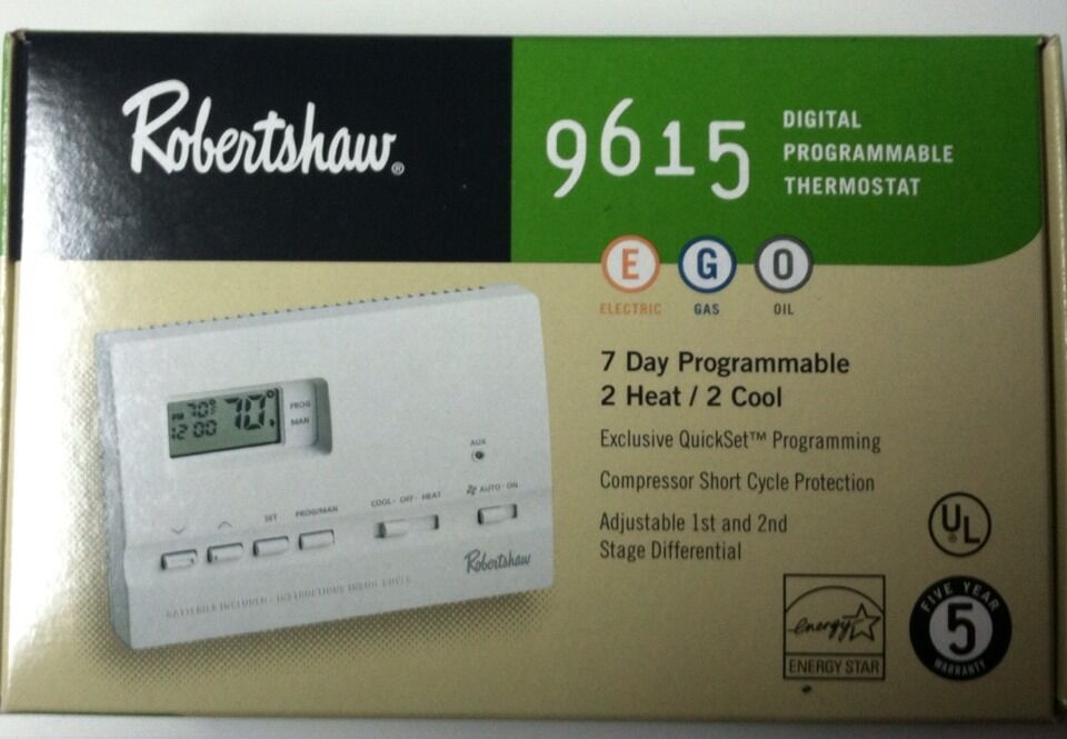 robert shaw digital programmable thermostat 9615 ebay rh ebay com Robertshaw Thermostat User Manuals Robertshaw Thermostat User Manuals