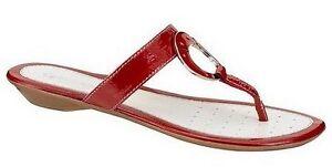 21e754419caf55 Geox Respira Zehentrenner Leder Gr.36-41 NEU Pantolette Rot Schuhe ...