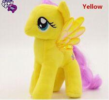"Brand New 18CM 7"" My Little Pony Yellow Plush Doll Toy Teddy Unicorn Horse GIFT"