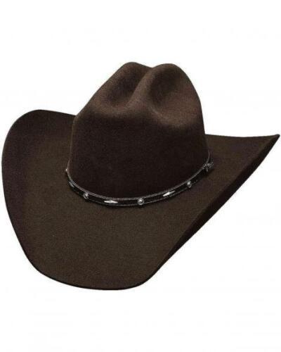Cattleman Chocolate Brown Bullhide 7X Premium Wool Cowboy Hat ADDED MONEY
