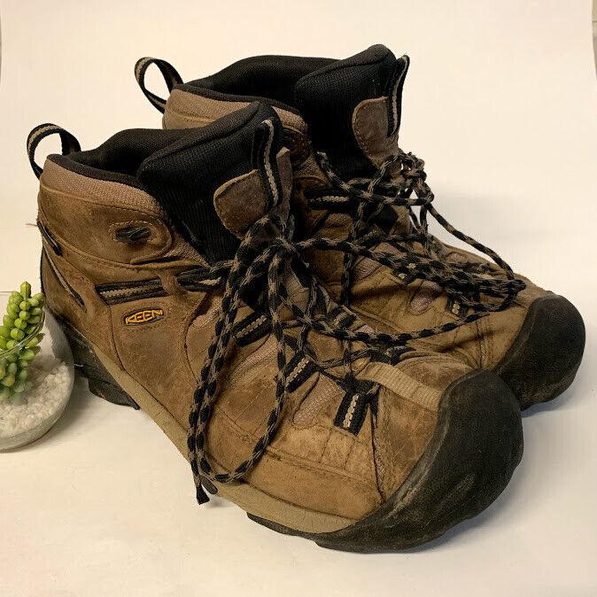KEEN Brown Leather Targhee II Waterproof Mid Hiking Boots Mens 11 US 44.5 EUR