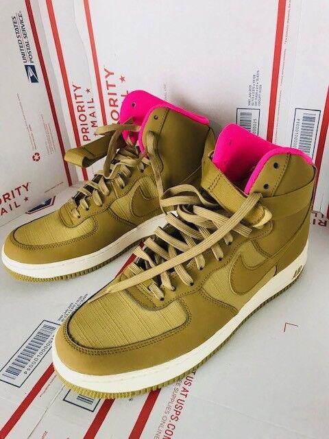 Nike Uomo Air Force 1 '07 Golden Tan Pink 315121-204 Size 11