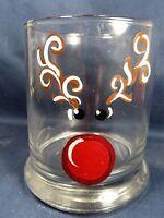 Reindeer Rocks Glass Candle Votive Holder Home Decor