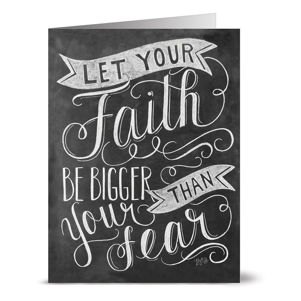 24 Chalkboard Note Cards Blank Cards Faith Bigger Than Fear Kraft Envelopes Included