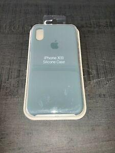 Apple coque en silicone pour Apple iPhone X/XS - Vert d'eau