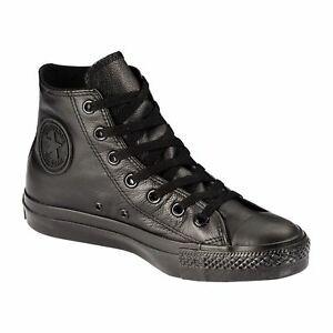 Original-Converse-Chuck-Taylor-All-Star-Black-Leather-Shoes-Mens-Womens-1T405