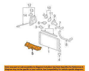 chevrolet gm oem 06 11 impala 3 5l v6 radiator baffle 10346636 ebay rh ebay com 3 Cylinder Chevy Engine Chevy 5.3 Engine Diagram