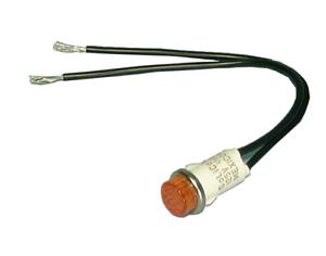 """12V ~ 14V AC//DC Incandescent Lamp Philmore 11-2300 0.500/"""" RED Indicator"""