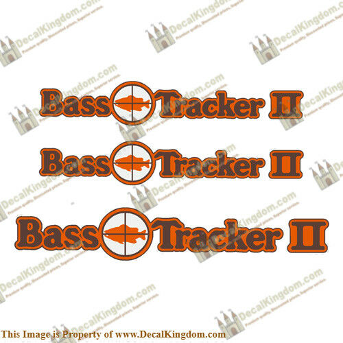 1970 Bass Tracker 2 Target Boat Decal Package 3pc Set 3M Marine Grade