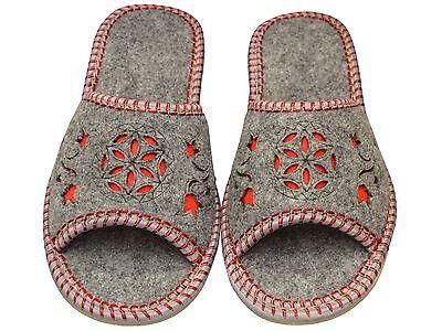 Damen Hausschuhe - Größe 36-41 - Filz - Latschen,Pantoffeln - FDI-04