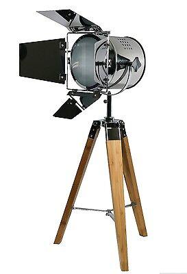 605457 Vintage Stehlampe Studiolampe Stativ Spot Dreibein Design Retroleuchte