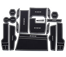 Fit For Civic 2016 Noctilucence Car Gate Slot Mat Cup Holder Rubber Mat