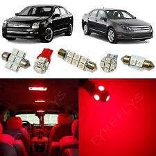 10x Red LED lights interior package kit for 2006-2012 Ford Fusion FF2R