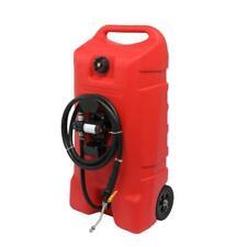 14 Gallon Pro Fuel Transfer Gas Caddy Tank Pump For Atv Auto Mower Boat Red
