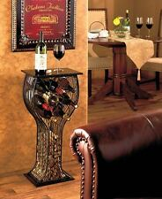 8 Bottle Wine Rack Storage Display Table Cork Storage Holder Metal Home Decor