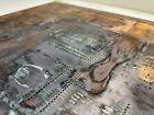 Large Patina 14x21 80s Copper Circuit Board PCB