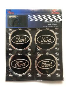 Metal-sticker-Ford-embleme-wheel-rim-center-caps-4x60mm
