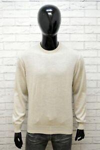 Felpa-Uomo-Trussardi-Collection-Taglia-L-Maglione-Sweater-Cardigan-Lana-Pullover