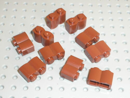 10 x LEGO RedBrown brick log 30136 //set 7019 10228 4856 75020 4842 4756 10182