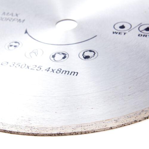 Diamant Trennscheibe kalt gepresst Diamantsägeblatt Diamantscheibe 350mm TOP
