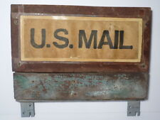 VINTAGE 1972 USPS UNITED STATES POST OFFICE US MAIL ADVERTISING SIGN PAPER WOOD