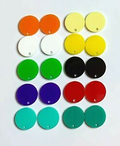 20-Pieces-16mm-Acrylic-Laser-Cut-Shapes-with-Hole-Plain-or-Glitter-DIY-Jewellery