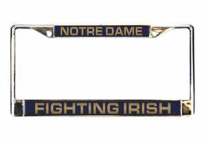 Notre Dame Fighting Irish Laser Cut Chrome Metal License