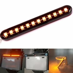 2-pcs-Water-Flowing-12LED-Strip-Turn-Signal-Tail-Light-Amber-12V-Car-Motorcycle