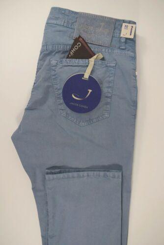 PANTALONE jeans uomo COTONE stretch ESTIVO blu P//E 2020 JACOB COHEN J688 comf