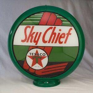 "Texaco Sky Chief Gas Pump Globe 13.5/"" Cabin Home Den Garage Shop Farm Decor"