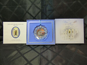 Image Is Loading 2009 White House Christmas Ornament First Electric  Christmas