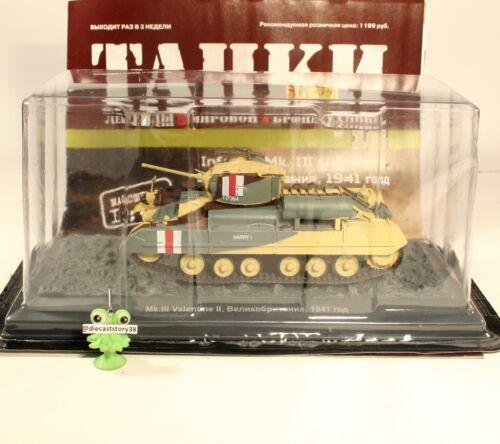 1:43 Infanty Mk III Valentine United Kingdom russian DeAgostini tanks №16 Panzer
