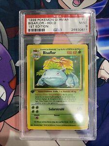 1999 Pokémon 1st Edition Base Set German Bisaflor 15/102 PSA 9 mint