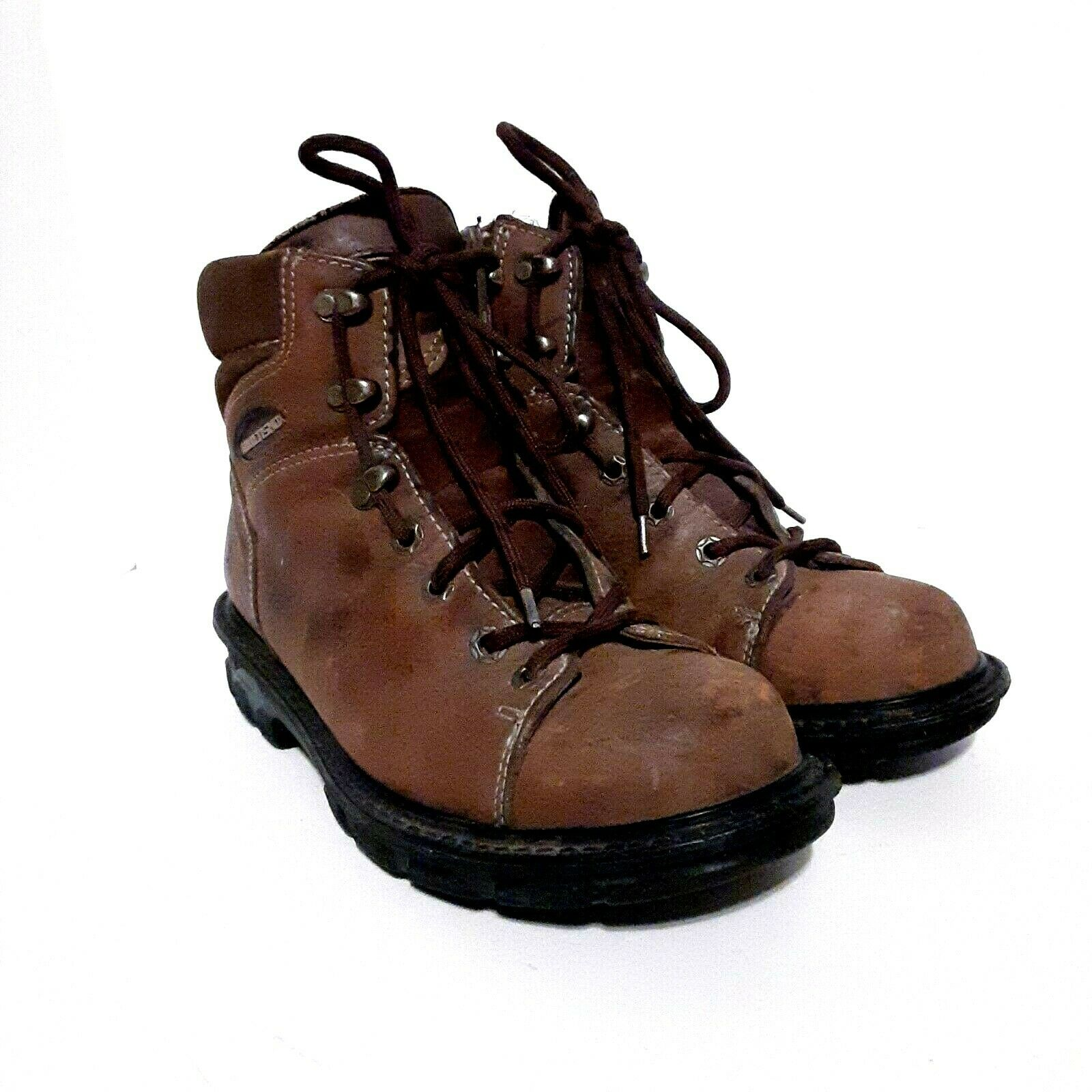Wolverine Multishox Men's Leather Work Hiking Boots Brown Size 8M