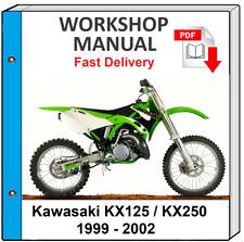 Kawasaki Kx 125 Kx 250 1999 2000 2001 2002 Service Manual For Sale Online Ebay